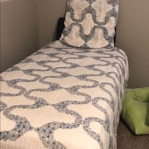 Other - Anthropologie quilt and Euro sham